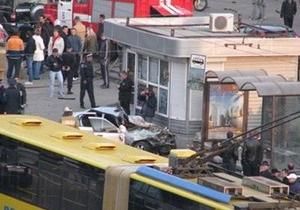Кровавое ДТП в центре Киева: маршрутка перевернулась от столкновения с BMW