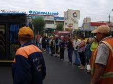 Предприниматели перекрыли движение на Троещине в знак протеста против сноса рынка