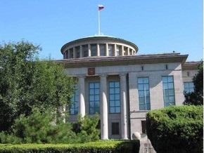 Группа китайцев провела акцию протеста перед посольством РФ в Пекине
