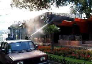 В Одессе сгорел ресторан Фанкони