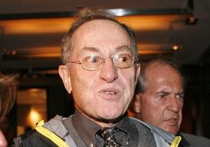 Адвокат Дершовиц: Кучма не виноват - его подставили