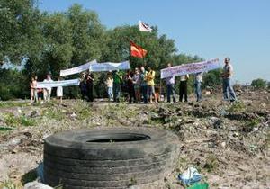 Во Львове возле фекальной станции провели  идеальную акцию протеста  для Могилева
