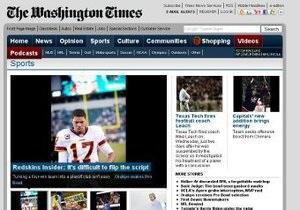 The Washington Times закрывает рубрику Спорт
