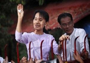 Лидер оппозиции Мьянмы вышла на свободу