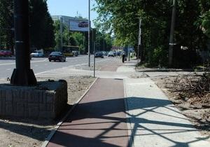 Во Львове открыли первую велодорожку