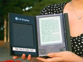 LG представила электронную книгу на солнечных батареях
