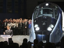 Во Франции впервые запущен высокоскоростной поезд