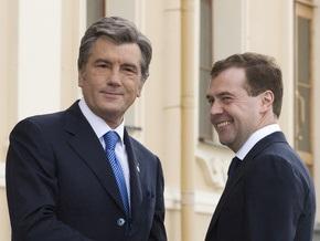 Ющенко получил от Медведева поздравление  с Днем Независимости