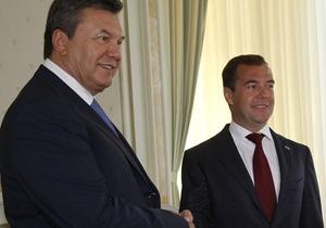 В России начались переговоры Януковича и Медведева