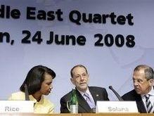 Ближневосточный  квартет  намерен помирить Палестину и Израиль