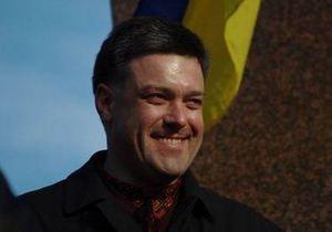 Тягнибок предложил посадить Ющенко, Тимошенко и Януковича на паром и отправить в Черное море