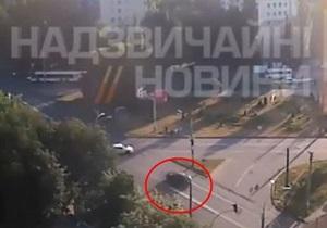 В интернет попало видео скандального ДТП с участием сотрудников СБУ в Киеве