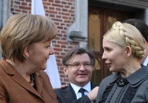 Меркель: Мы прилагаем усилия для выезда Тимошенко в Германию