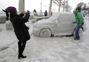 Фотогалерея: Парк ледовых скульптур. Европа в плену аномальных холодов