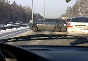 Сегодня на Бориспольской трассе произошло рекордное количество ДТП