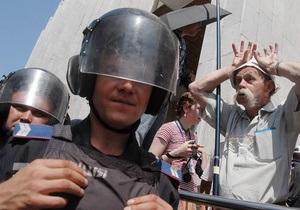 В Харькове ночью на противников языкового закона напали неизвестные