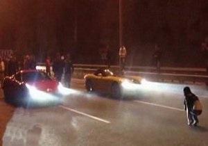 Поклонники нелегальных автогонок почтили память погибшего в ДТП чиновника