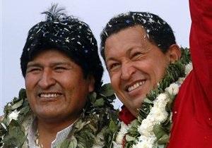 Президенту Боливии не разрешили навестить Чавеса в больнице