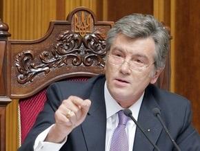 Ющенко объяснил, почему он не хочет распускать парламент