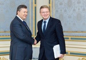 Янукович заверил Фюле, что  внимательно изучает сигналы ЕС
