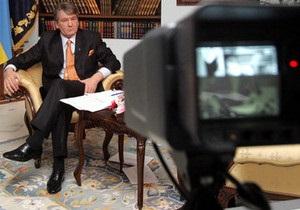 На полтавском телевидении прервали трансляцию выступления Ющенко
