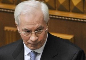 Азаров не намерен работать по газовым контрактам Тимошенко