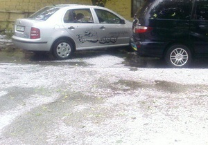Под Киевом выпал снег