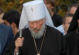 Ъ: Митрополит Владимир отслужил первую после госпитализации литургию