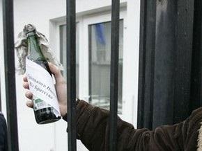 В Москве неизвестные забросали коктейлем Молотова военкомат