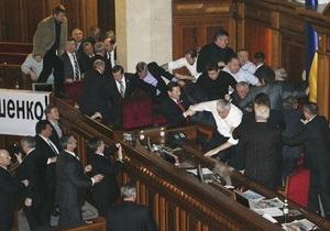 Литвин заявил, что драка депутатов 16 декабря не была  побоищем