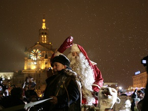 Фотогалерея: Настоящий Санта-Клаус на Майдане