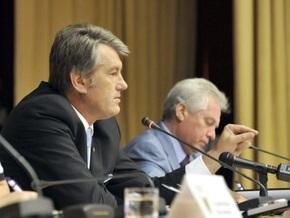 Ъ: Ющенко во время совещания приказал прокурору выплюнуть жвачку
