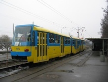 На Борщаговке открылся участок линии скоростного трамвая