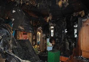 В центре Киева горела церковь