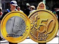 Евро упал из-за снижения рейтинга Италии