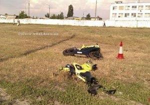 В Киеве мотоциклист сбил школьницу на пешеходном переходе