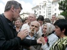 Ющенко досталось от БЮТ за отпуск во время трагедии