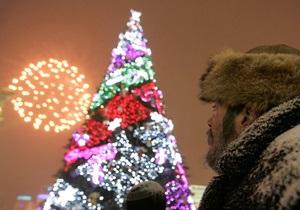 С елки в центре Киева украли двух тигров