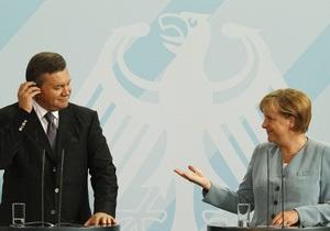 Меркель  откровенно обсудила  с Януковичем вопрос свободы слова в Украине