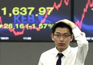 Фондовые рынки Азии закрылись снижением из-за США