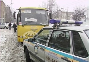 В Киеве избили водителя маршрутки