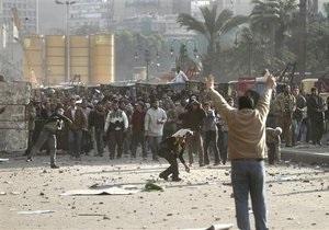 В Каире неизвестные, вооруженные ножами, напали на демонстрантов