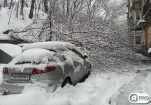 В Киеве каждый день штрафуют около 500 предпринимателей за нежелание убирать снег