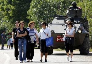Сербия согласилась вернуть миротворцам КПП в Косово
