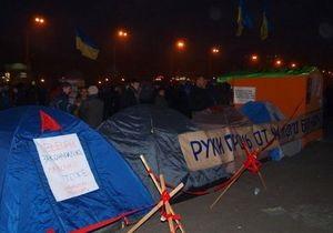 В Харькове сторонники Авакова свернули часть палаток