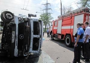 новости Запорожья - ДТП - В Запорожье перевернулась маршрутка: погиб один человек, 10 пострадали