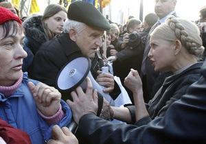 Тимошенко о сносе палаточного городка: Это произошло цинично и грубо