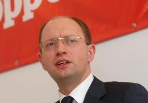 Яценюк: Рада лишила Фронт перемен возможности участвовать в местных выборах