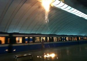 Киевавтодор исключает свою вину в возгорании на станции метро Осокорки