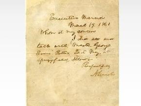 Письмо президента Линкольна недоверчивым школьникам выставлено на продажу